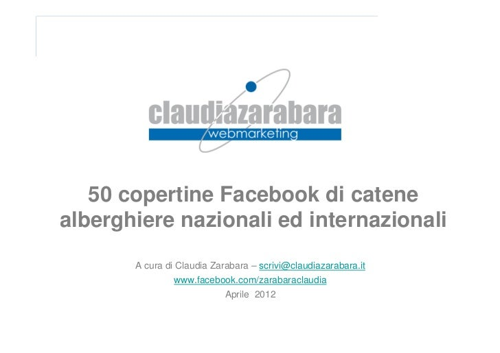 Facebook: cover page di 50 catene alberghiere nazionali e internazionali