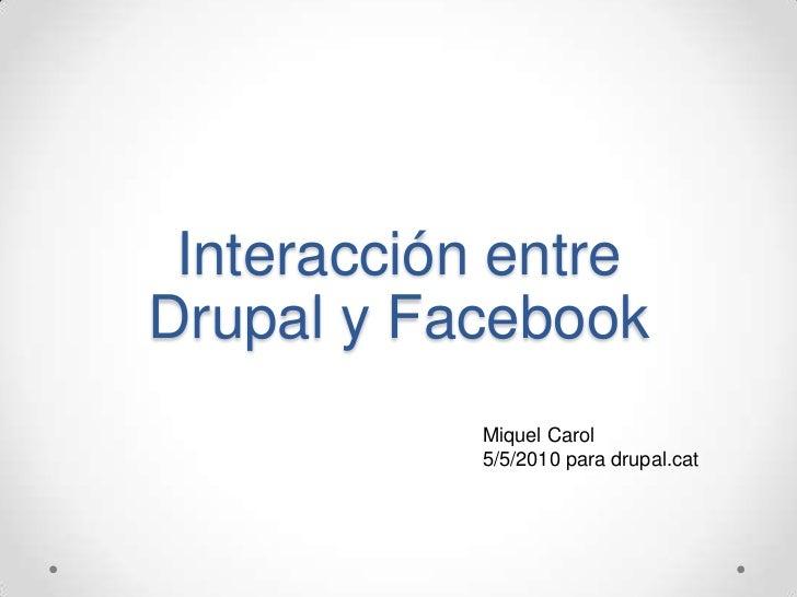 Facebook i drupal
