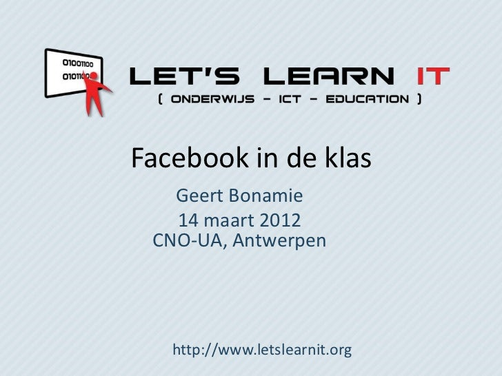 Facebook in de klas llit