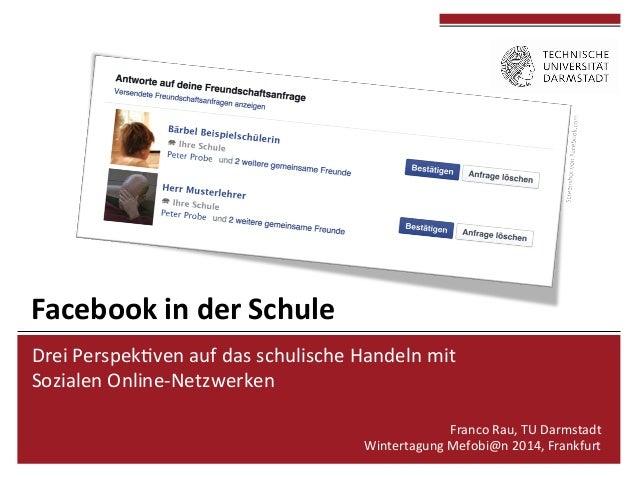 Drei  Perspek*ven  auf  das  schulische  Handeln  mit     Sozialen  Online-‐Netzwerken      Franco...