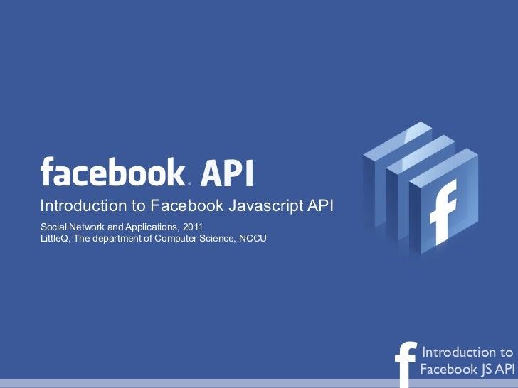 Introduction to Facebook Javascript SDK