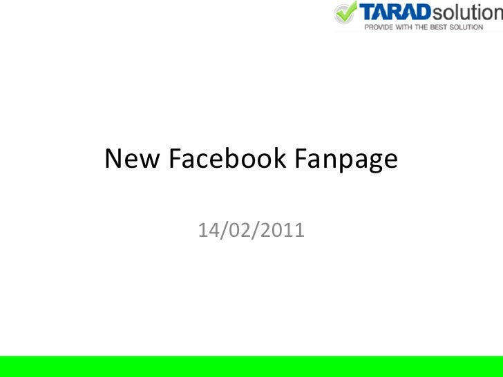 New Facebook Fanpage      14/02/2011
