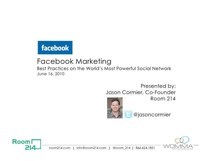 Facebook marketing   room214
