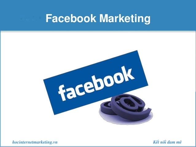 Facebook marketing slide