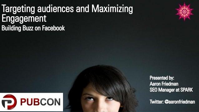 Facebook marketing at pubcon 2012