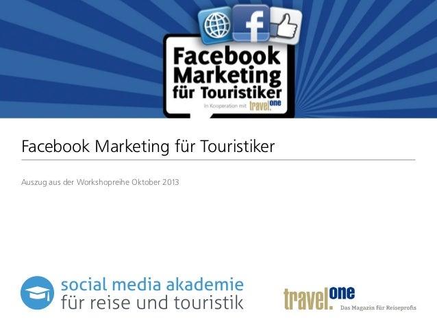 Facebook Marketing für Touristiker (Auszug)