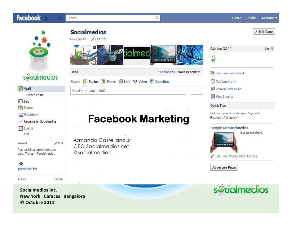 Marketing para Facebook. Oct. 2011