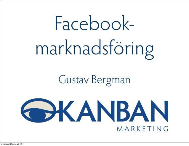 Facebookmarknadsföring kino 6 feb 2013
