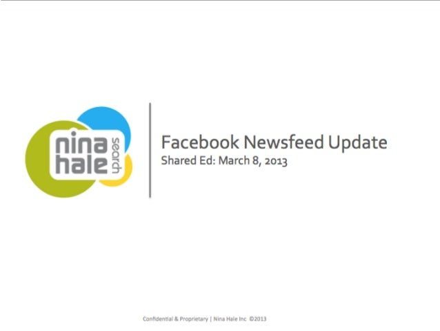 Facebook newsfeed update