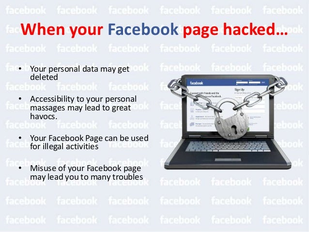 Things when your Facebook account hacked