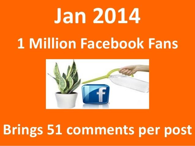 Jan 2014 1 Million Facebook Fans  Brings 51 comments per post
