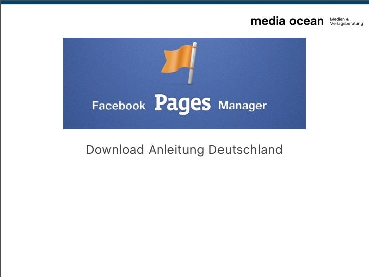 Facebook Pages Manager - Download-Anleitung