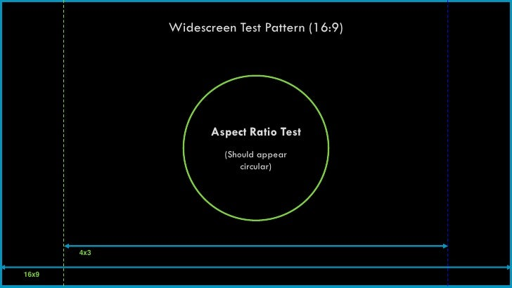 Widescreen Test Pattern (16:9)                    Aspect Ratio Test                      (Should appear                   ...