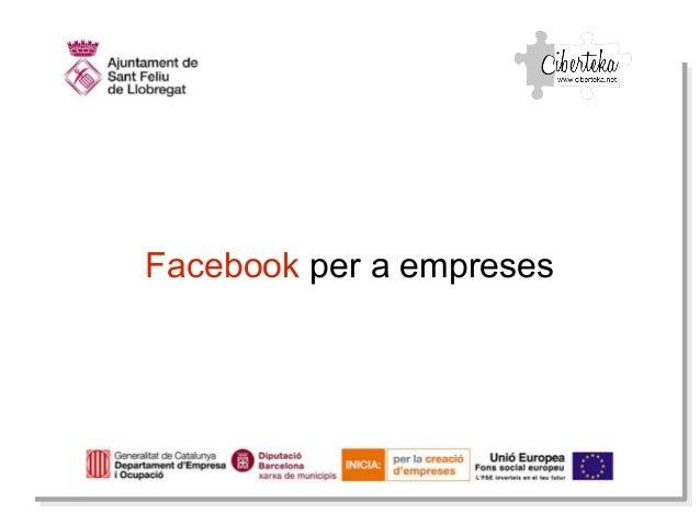 Facebook per a empreses