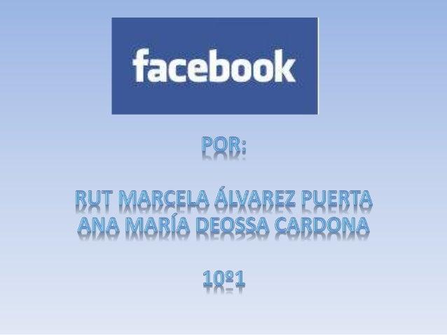 """El Facebook se creo como una versión en línea de los """"facebooks"""" de las universidades americanas abrió sus puertas a cualq..."""