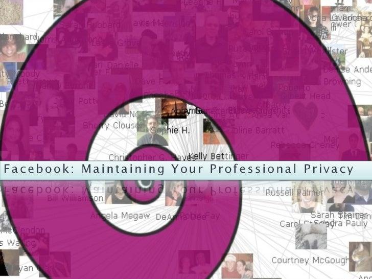 Facebook & Privacy 2010
