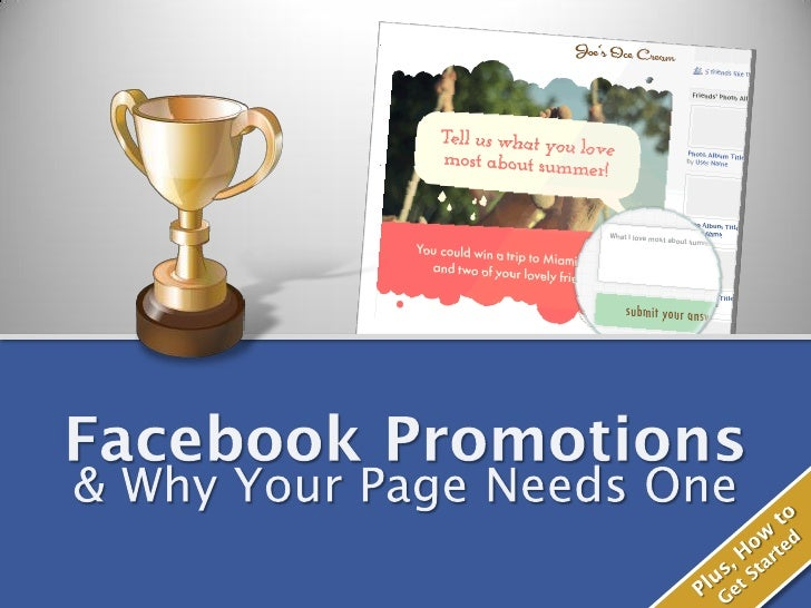 Facebook Promotions: Why Your Page Needs One
