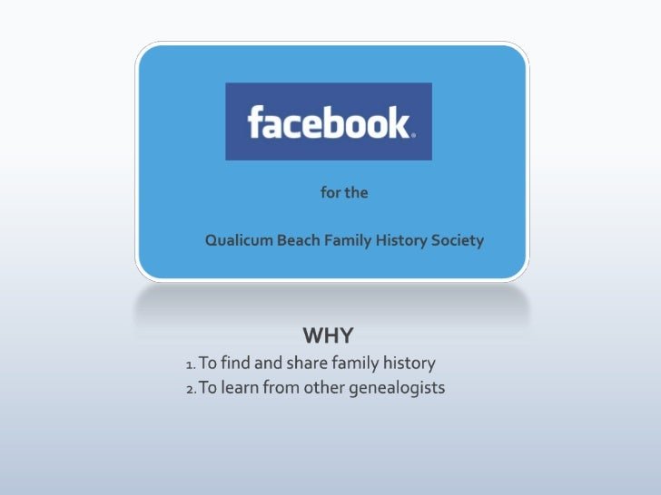 Facebook for the Qualicum Beach Family History Society
