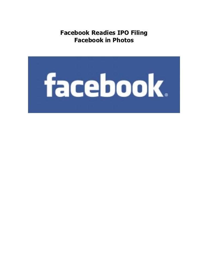 Facebook Readies IPO Filing    Facebook in Photos