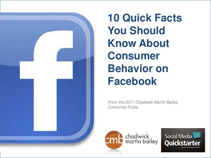 10 Quick Facts You Should Know About Consumer Behavior on Facebook