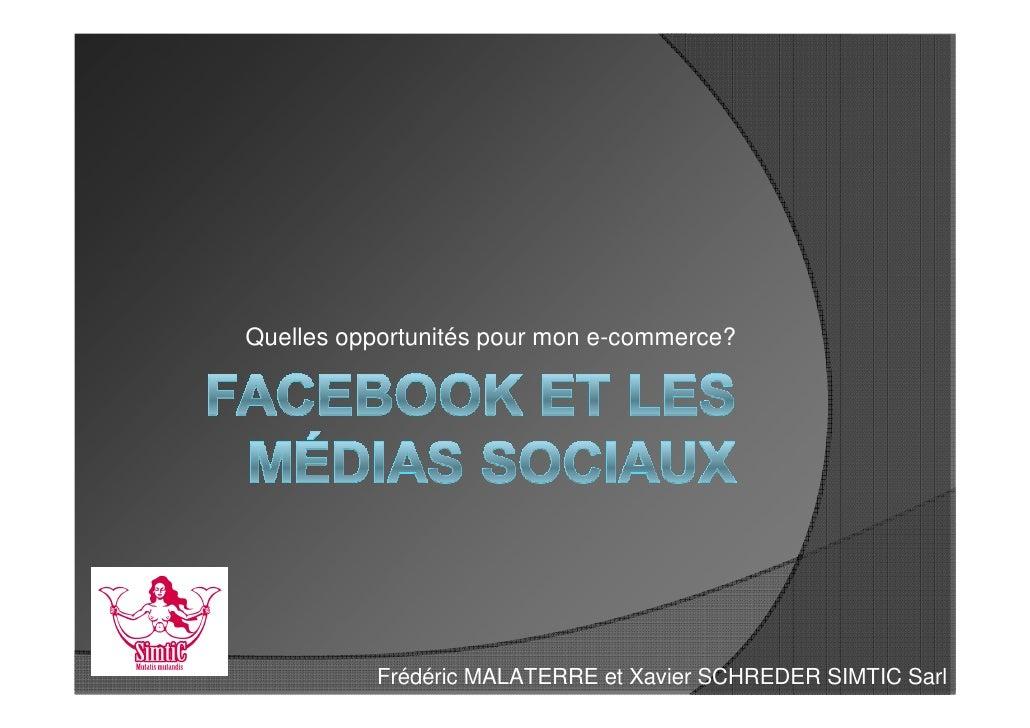 Club e-commerce Pau Béarn : Facebook et e-commerce
