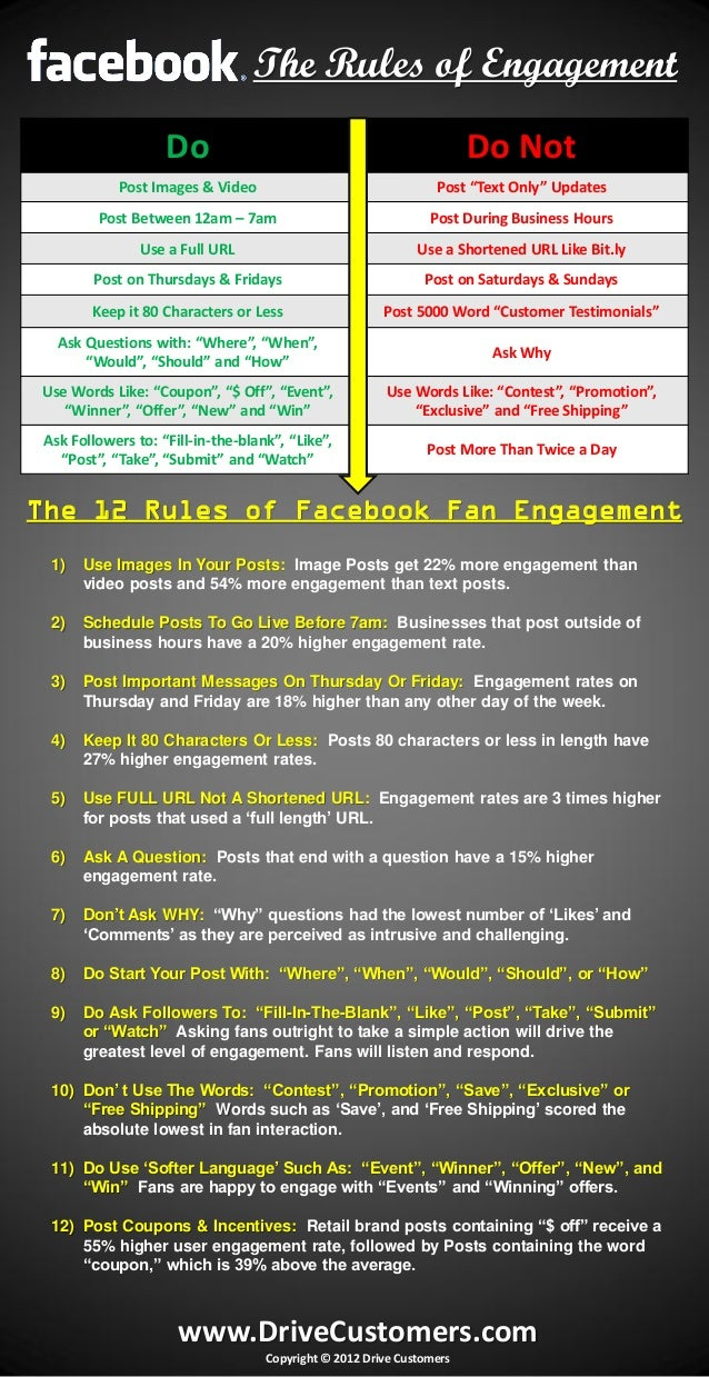 Facebook Rules of Engagement Cheat Sheet