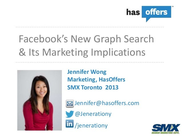 Facebook's New Graph Search& Its Marketing Implications          Jennifer Wong          Marketing, HasOffers          SMX ...