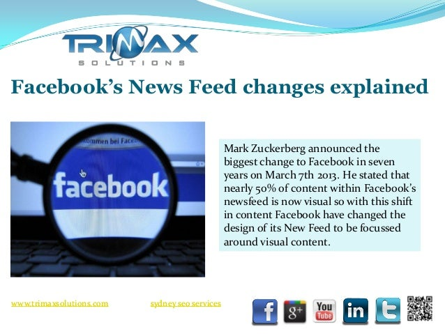 Facebook's news feed changes explained