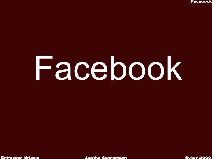 Facebook Syksy 2009