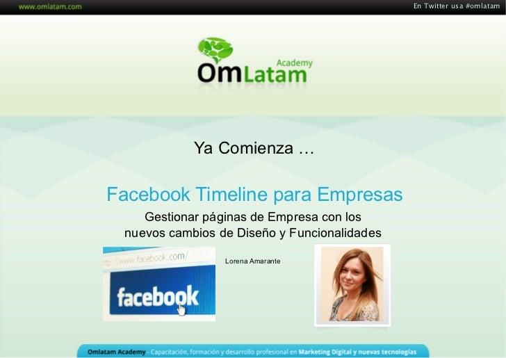 Facebook Pages: Timeline para Empresas
