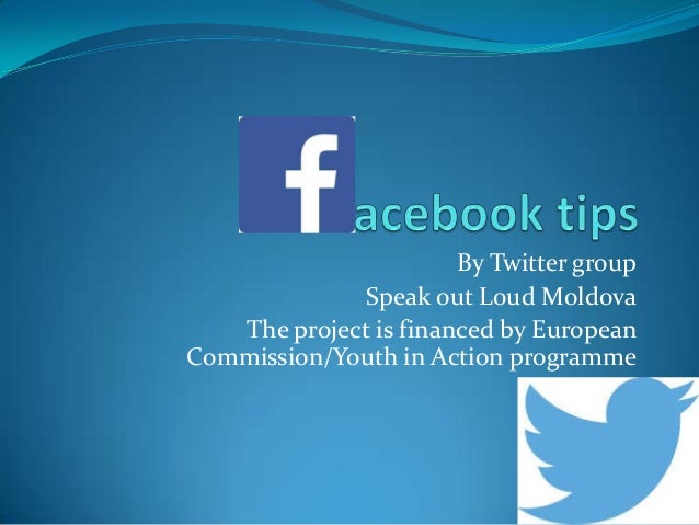 By Twitter group Speak out Loud Moldova The project is financed by European Commission/Youth in Action programme