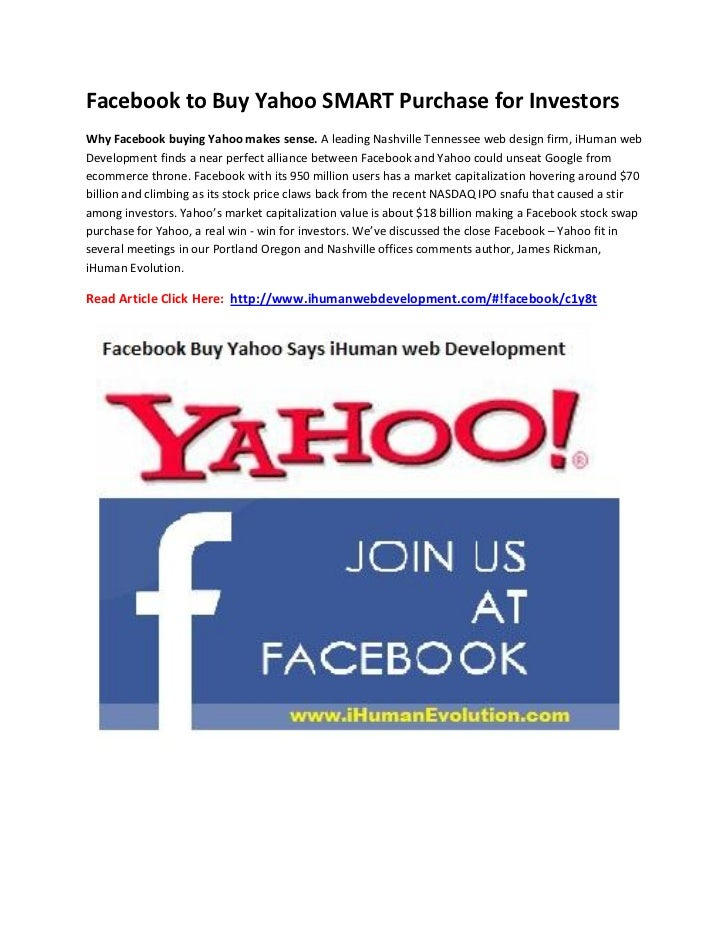 Facebook to buy Yahoo SMART Purchase for Investors