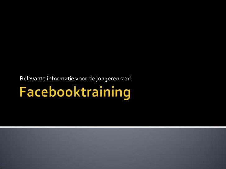 Facebooktraining jongerenraad