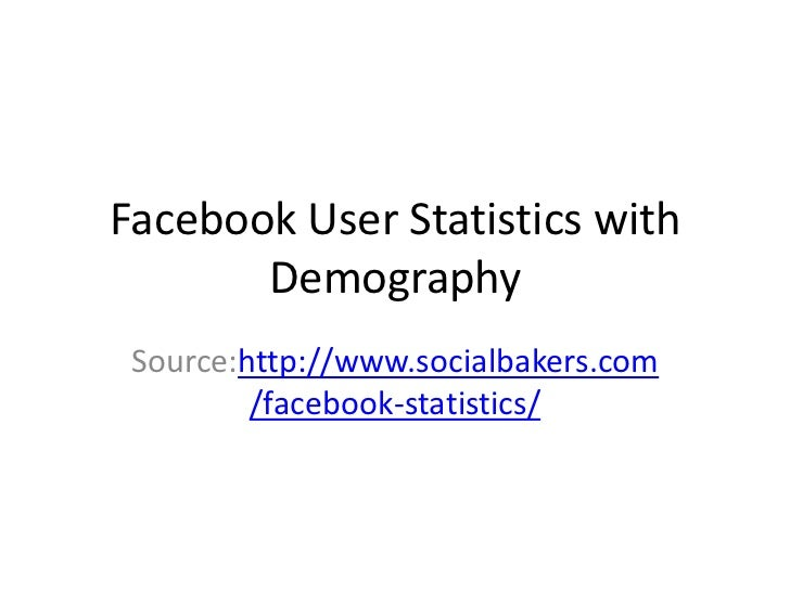Facebook User Statistics with       Demography Source:http://www.socialbakers.com         /facebook-statistics/