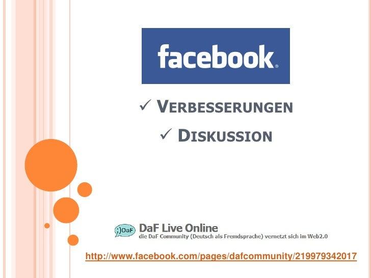  VERBESSERUNGEN                DISKUSSION     http://www.facebook.com/pages/dafcommunity/219979342017