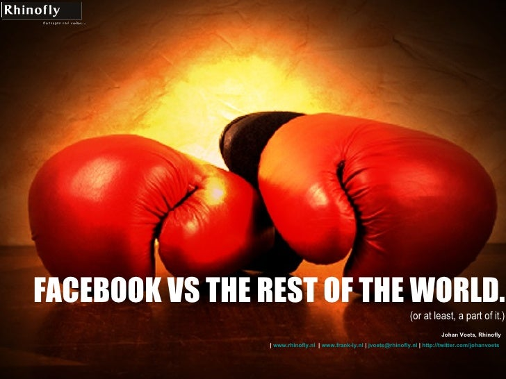 Facebook Vs The Rest Of The World (or...)