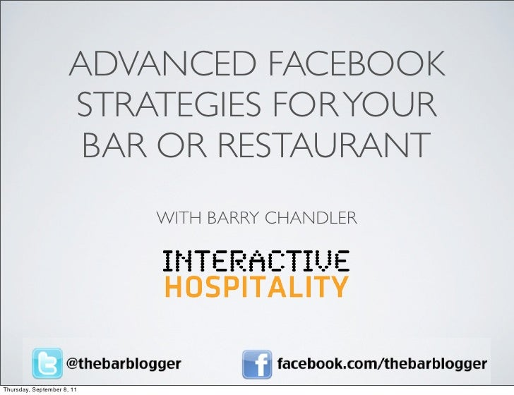 ADVANCED FACEBOOK                      STRATEGIES FOR YOUR                       BAR OR RESTAURANT                        ...