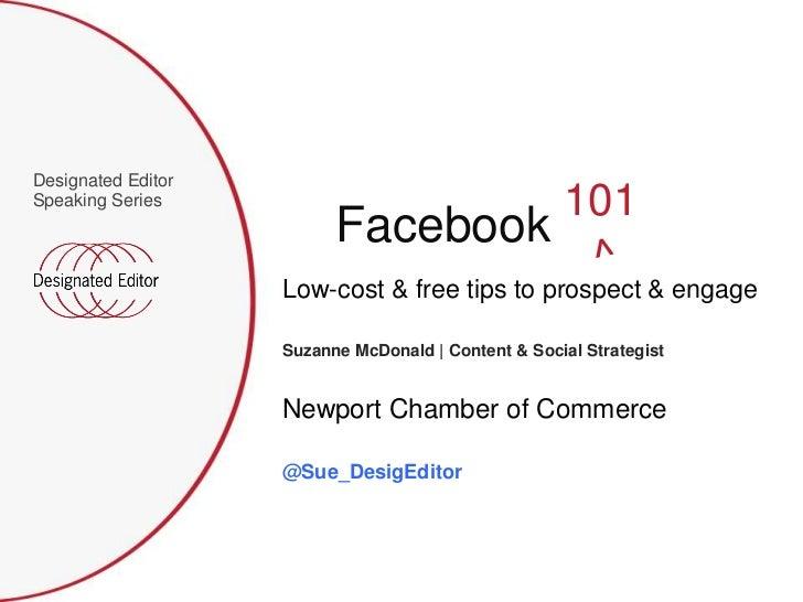 Designated EditorSpeaking Series                                                     101                          Facebook...