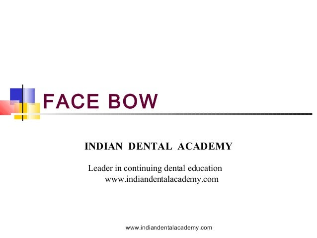 Face bow (2) / dental courses