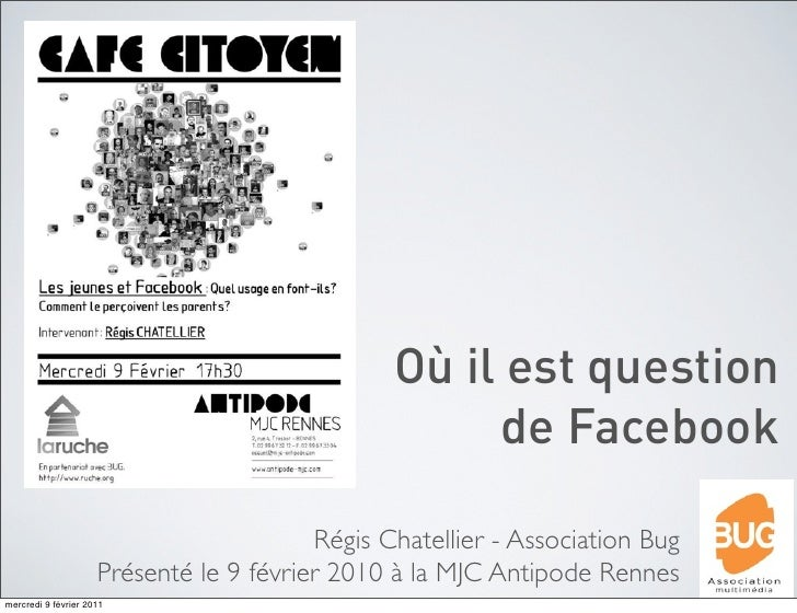 Où il est question                                                     de Facebook                                        ...