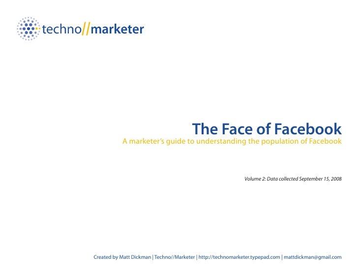 Face Of Facebook - Volume 2 September 2008