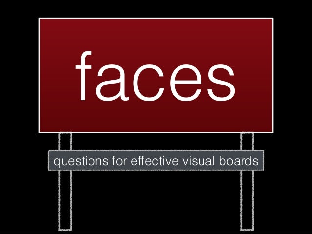 facesquestions for effective visual boards