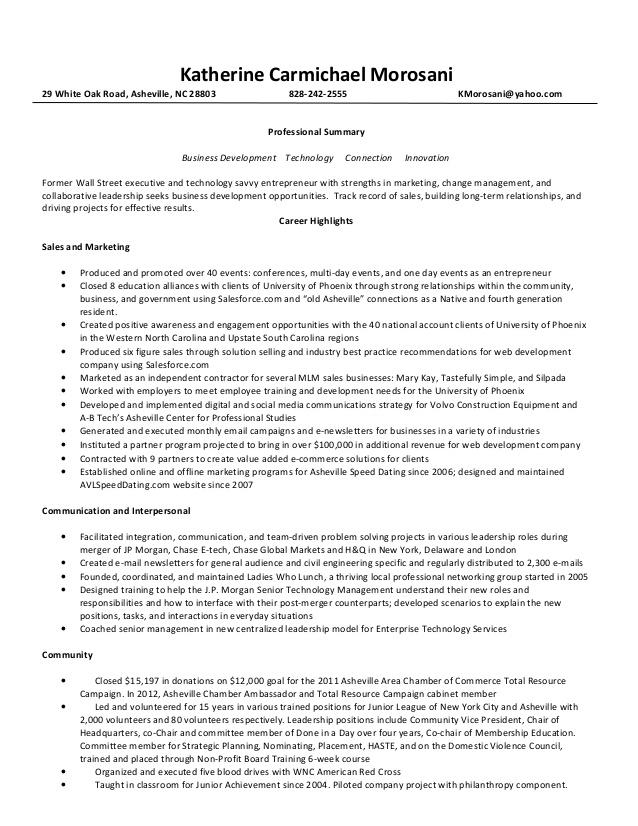 katherine morosani resume for CoA3CeR9