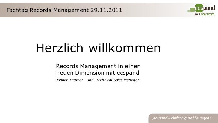 Fachtagung records-management Project Consult