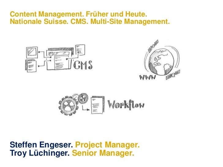 Nationale Suisse – Multisite-Management Konzept.