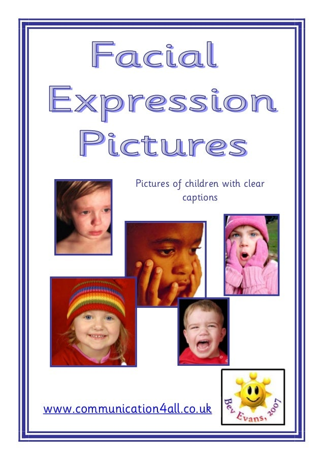 Pictures of children with clear                         captionswww.communication4all.co.uk