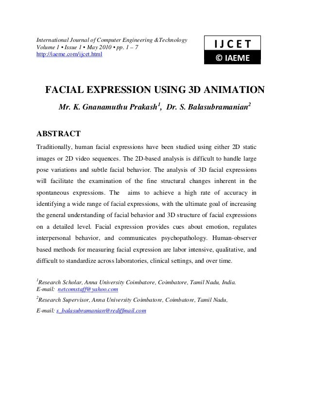 International Journal of Computer Engineering &TechnologyVolume 1 • Issue 1 • May 2010 • pp. 1 – 7                        ...