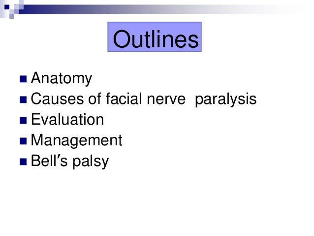 Facial paresis caused by a dentist would