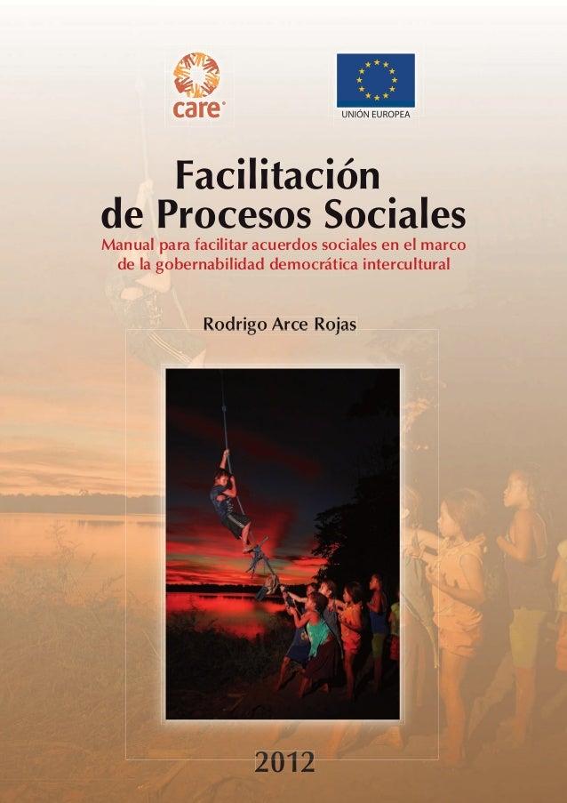 Manual para facilitar acuerdos sociales en el marco                                                                       ...
