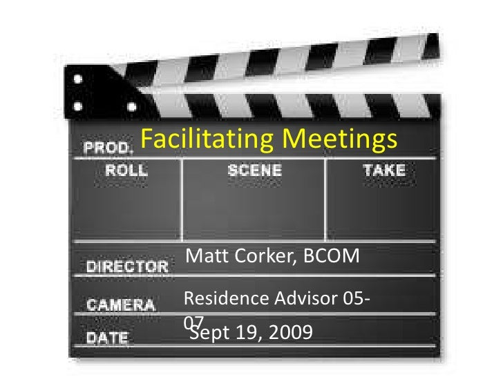 Facilitating Meetings: Residence Life Staff